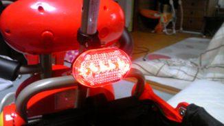 安全ライト装着!
