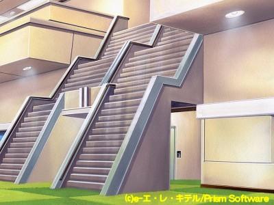 伝説となった病院の階段。