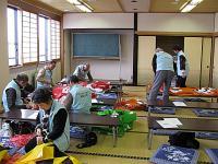 サポータズクラブの準備作業