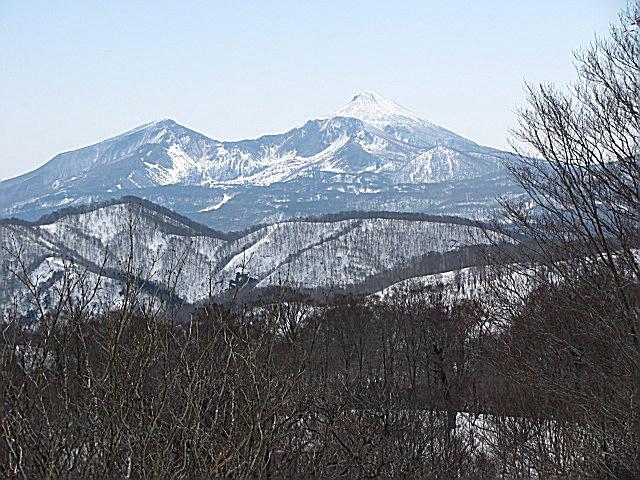 高曽根山より磐梯山を望む