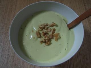 コーンとアボカドクリーミースープ
