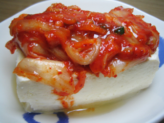 豆腐キムチ090417