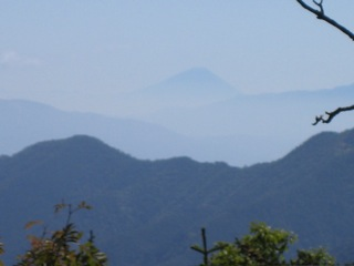 富士見ベンチ富士山090920