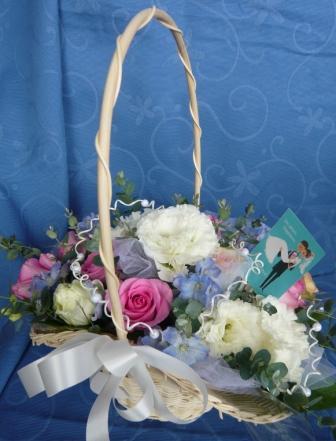 ジューンブライドに贈る花かごp
