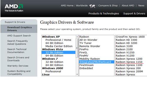 ATI Radeon Xpress graphic adaptor driver - Microsoft Community