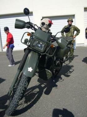 偵察用バイクにも乗ってみた