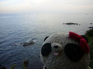 海だどー!