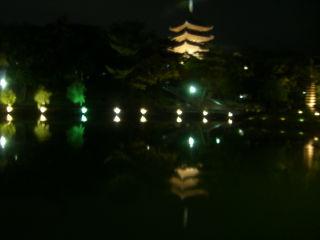 猿沢池に映る興福寺五重の塔
