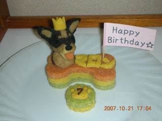 マロンちゃんのケーキ
