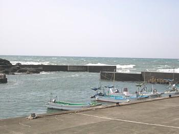 野島崎の港