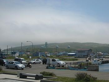ノシャップ岬から眺める陸側の風景