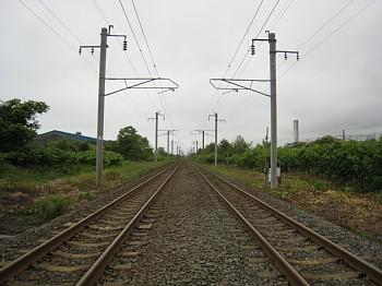 まっすぐ線路