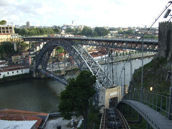 475Porto ケーブルカーからDom Luis1世橋