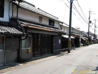 武佐宿の家並み