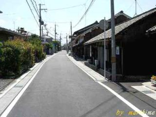 武佐宿の東見附付近