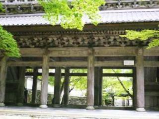 山門:享和2年(1802)建立の5間3戸の門