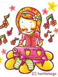 ねこと花とピアノ