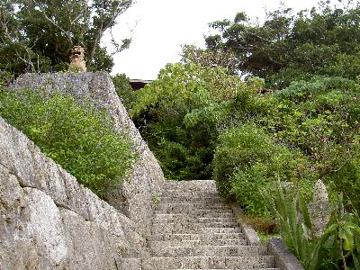 山の茶屋 石段