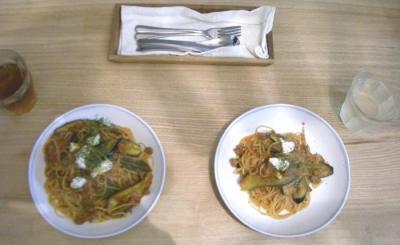 茄子と牛肉のトマトパスタ 2008.11 .30