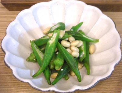 オクラと大豆のさっぱりサラダ 2008.10.8