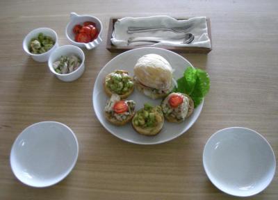 サンドイッチランチ チキンと海老 2008.10.11