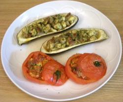 茄子とトマトのオーブン焼き 2008.10.14