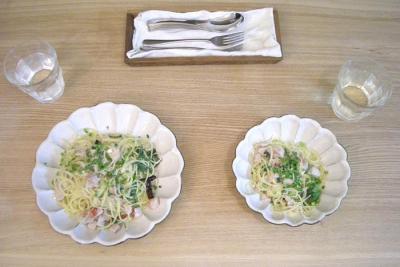 白身魚とバジルのスパゲティ 2008.10.17
