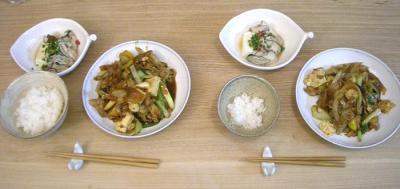 味噌炒めと湯豆腐 2008.10.22