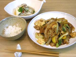 豚肉と豆腐とたっぷり野菜の味噌炒め 2008.10.22