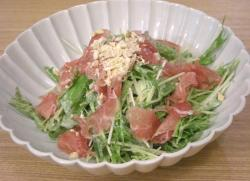 イタリアン満喫 水菜と生ハムのサラダ 2008.10.23