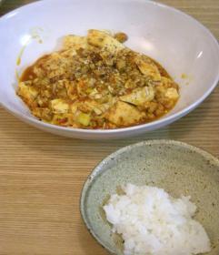 麻婆豆腐とピカピカご飯 2008.10.31