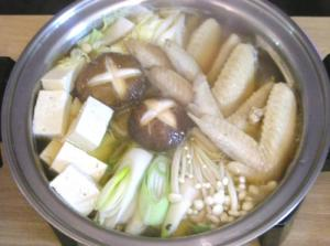 今夜は鍋です。野菜たっぷり鶏鍋 2008.11.7