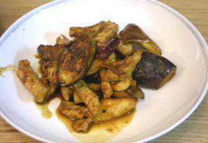 茄子と豚肉の味噌炒め 2008.11.4