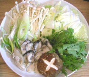 今夜は鍋です。野菜たっぷり!牡蠣も!2008.11.7