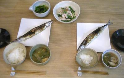 今年初!秋刀魚定食 2008.11.13