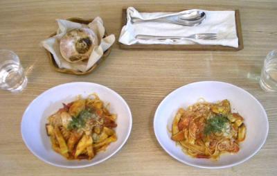 豚肉とエリンギのトマトスパゲティ 2008.10.30