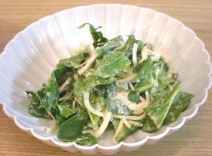 今夜は中華!ほうれん草と玉ねぎのサラダ 胡麻のドレッシング和え 2008.11.19
