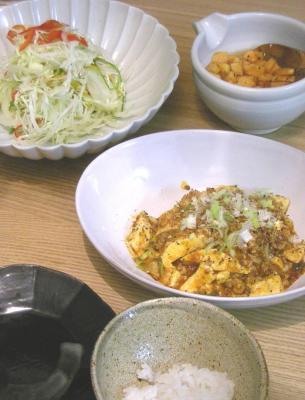 辛い辛い麻婆豆腐 2008.12.1