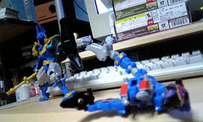 五神獣-ユニゾン・アヌビス+セベク 戦闘イメージ