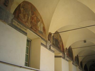 ワイン会会場にある壁画