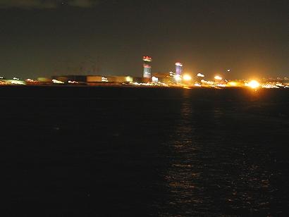ライヴ後に見る南港