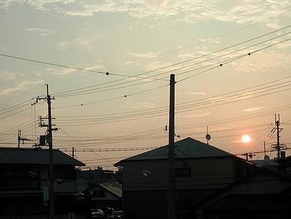 初日の出でなくても日の出は美しいものだ