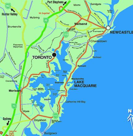 lake maquarie map