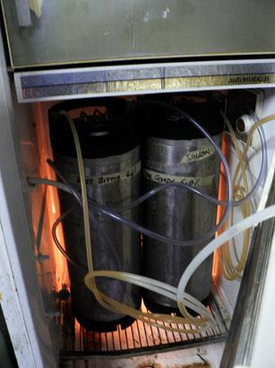 Beer fridge inside