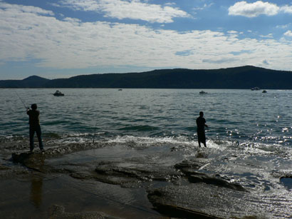 fishing at kuring-gai