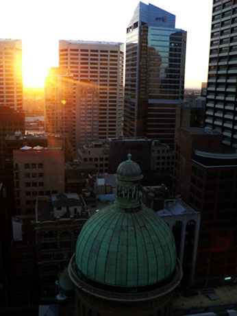 View from Hilton sydney