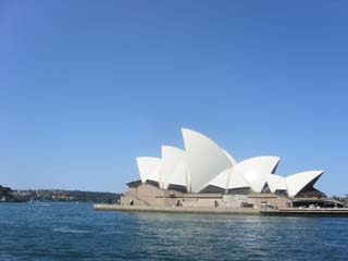 opera house from ferry