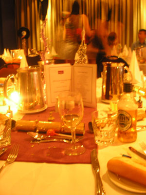 xmas party table