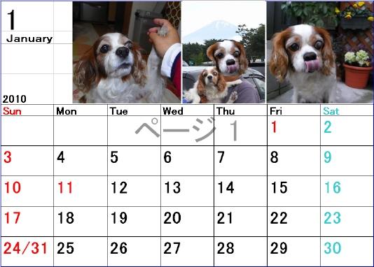 2010年も宜しくカレンダー