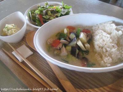 cafe couwa◇7種の野菜と青山高原鶏のマイルドグリーンカレー